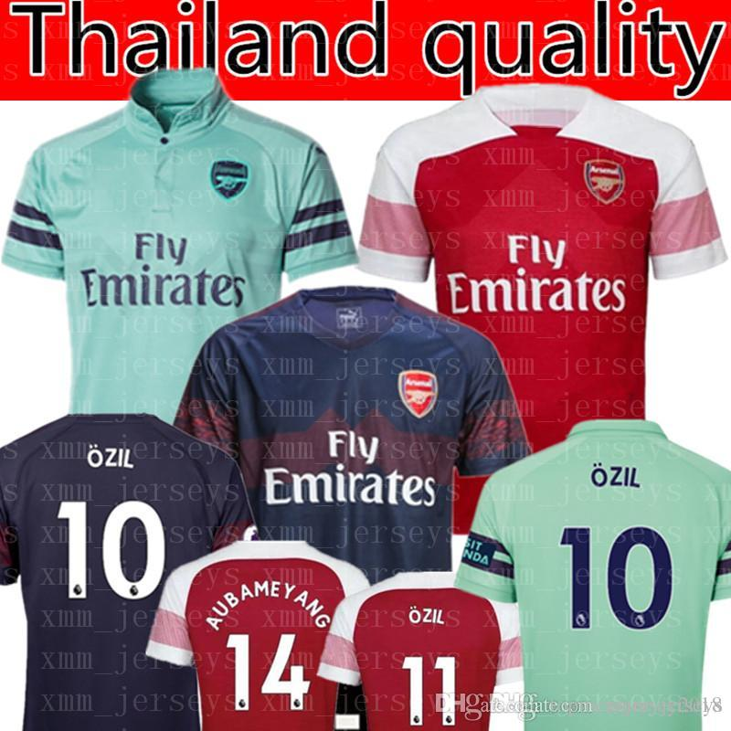 huge discount d54e2 65f23 2019 2019 Arsenal OZIL #10 AUBAMEYANG #14 Soccer Jersey Arsenal MKHITARYAN  LACAZETTE Shirts Football Uniforms XHAKA GIROUD WOMEN Man Kids Kits From ...