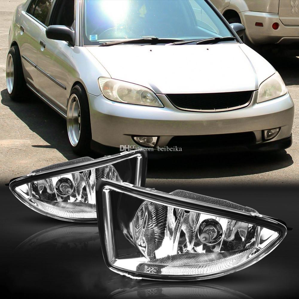 Автомобиль OEM Стиль Непосредственно Замена лампы Противотуманные фары ж / шарик + переключатель + провод + ободок / 1Set для 2004-2005 Honda Civic