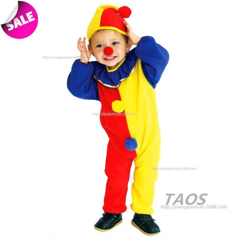 roupas cosplay rHlQy Halloween desempenho masquerade jardim de infância das crianças vermelhas e k palhaço amarelo roupas cosplay Halloween das crianças