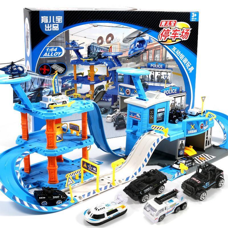2018 İl Serisi parça bulmaca büyük bir park yeri oyuncak polis mühendisliği itfaiye aracı hediye oyuncaklar