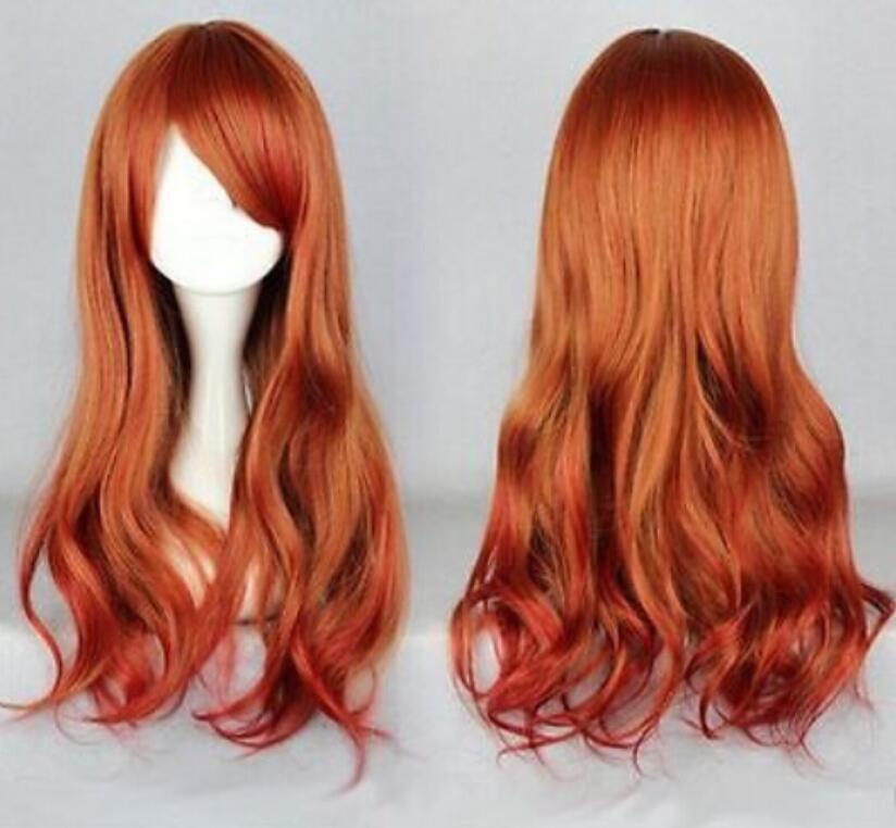 WIG envío gratuito 65 cm largo multicolor hermoso lolita Anime cosplay peluca