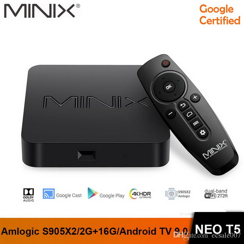 MINIX NEO T5 TV BOX Amlogic S905X2 2G 16G Chromecast Smart TV BOX 4K Ultra HD Android TV 9.0 Pie Media Hub