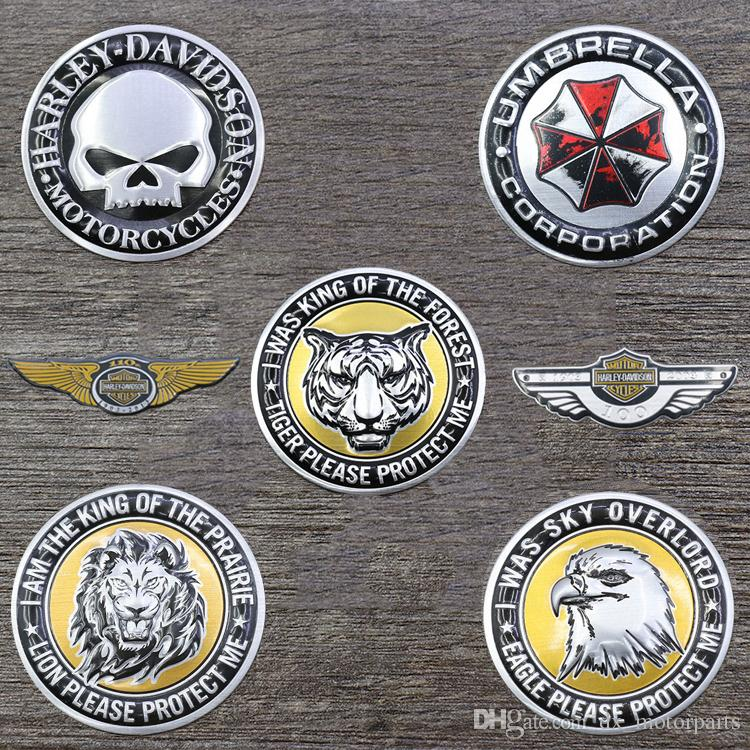 3D Metal Decal Sticker Pad Motorbike Motorcycle Motor Accessories Car Decoration Emblem Badge Gas Fuel Tank Stickers For Harley High Quality