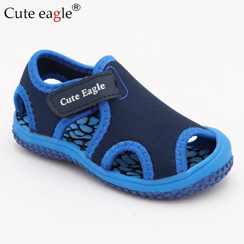 águia bonito 2019 Marca Summer Fashion Crianças sapatos da criança Meninas Sandals Crianças Meninos Sandals antiderrapante Baotou crianças Praia Shoes Y200103