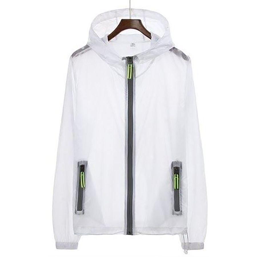 Светоотражающие Прозрачная тонкая куртка Мужчины лето с капюшоном Солнцезащитный Плюс Размер пальто Мужчины Streetwear Куртки Hombre Ветровка 5J001