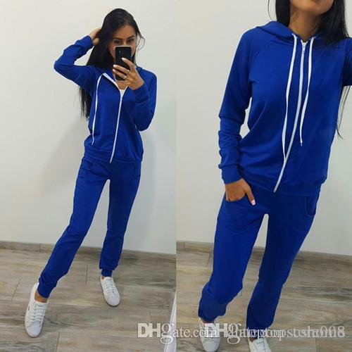 Europe and America new brand design ladies sportswear sexy casual suit classic fashion multicolor optional