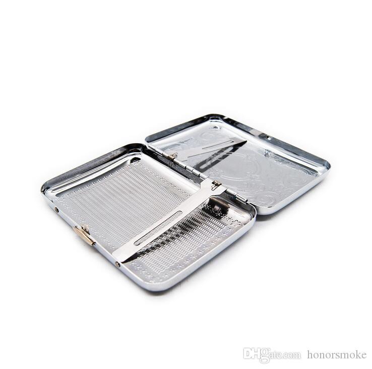 Esculpidas cigarros de metal 16pcs caixa suporte de metal cigarro armazenamento Tobacco Caso Container Titular fumar Com dom pacote de varejo