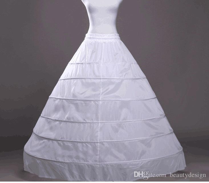 Свадебная юбка с 6 обручами Свадебная юбка с юбкой-марзой 2019 Crinoline Underskirt Свадебные аксессуары Jupon Mariage CPA206