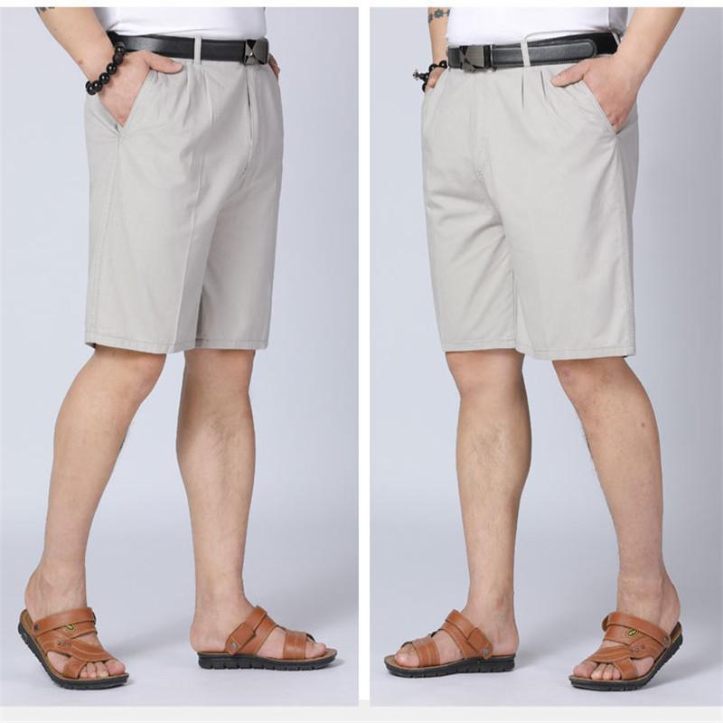 Plus Size Pantalon court Casual Coton Noir Longs Hommes Shorts Homme Short multi poche d'été en vrac Zipper Culottes Kaki Gris