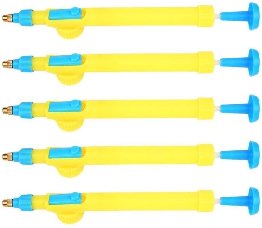 Vaivén pulverizador de botella de refresco de cola de empuje manual y tracción de presión de aire de riego cabezal de pulverización puede dirigirse riego por aspersión cabeza de la flor de desinfección