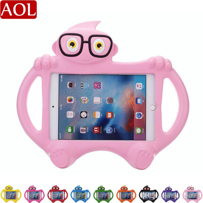 "For new iPad 2017/2018 pro 9.7"" air 2 3 4 mini Cute Glasses kids Case Non toxic Shockproof EVA Foam For 7.0 inch Tablet Cover"