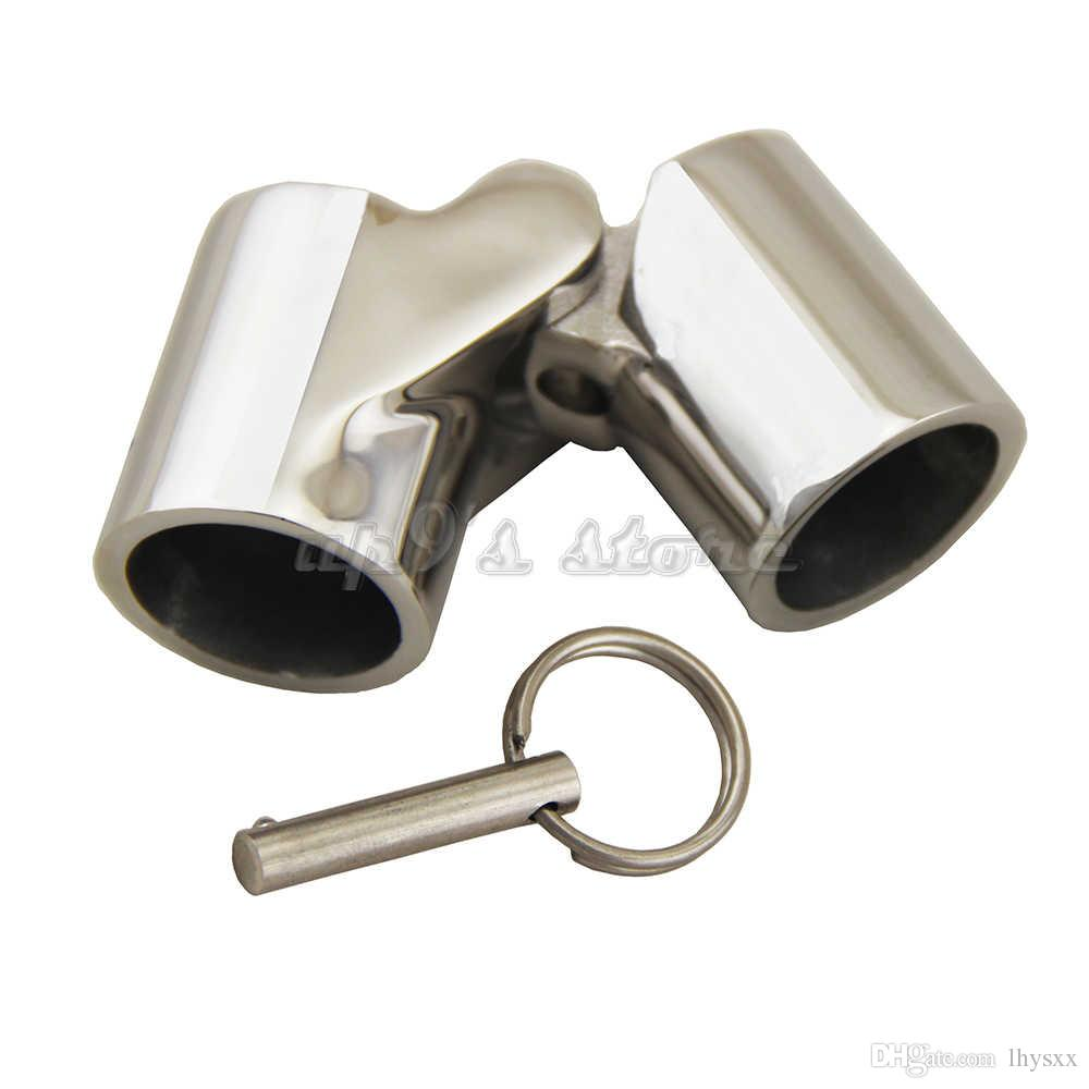 4x 316 Stainless Steel Folding Swivel Connector for 25mm Boat Rail Tube//Pipe