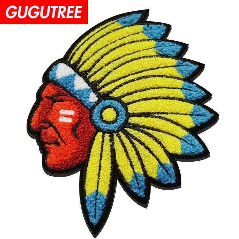 GUGUTREE serviette broderie gros patch indiens patches dessin animé animal badges de patches pour les vêtements FD Appliqué-7