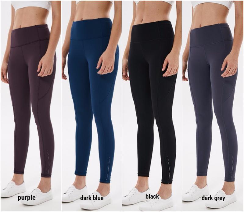 LU19021 Женщины Йога Длинные брюки девушки Идущие гетры упражнения Фитнес Одежда женская Спортивные брюки для взрослых Тонкий SPORTWEAR