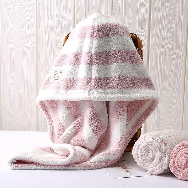 Envío de la gota caliente de sequía de Magic Hair de microfibra toalla del abrigo de secado rápido la cabeza del turbante del casquillo Bun sombrero de ducha del baño de ducha en seco nueva piscina