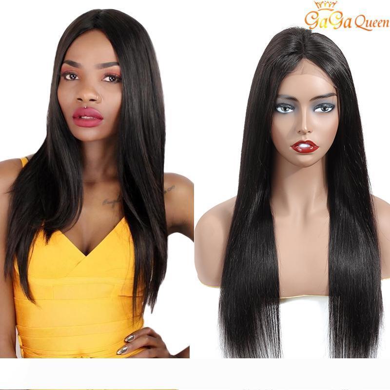 4x13 recto sedoso del frente pelucas brasileño de la Virgen del pelo del cordón del pelo humano del nuevo arrival150 densidad del color natural