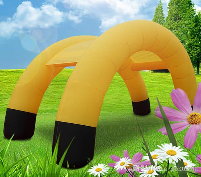 Tienda inflable Evento arco inflable Tienda Inteligente Expo Display con la impresión completa y ventilador de Dia0.9x10Wx5Hx3.8D M BUENO