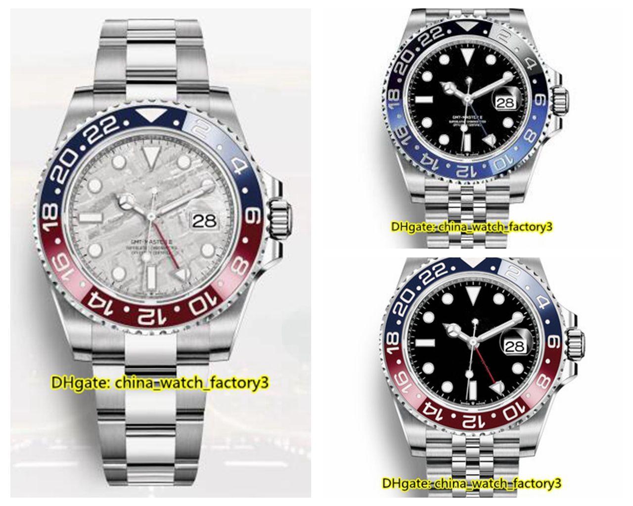 12 Style de Haute Qualité Watch BaselWorld 40mm GMT Batman 126710 116710 116713 126710 126715 126711 Asie 2813 Mouvement automatique Montres Hommes