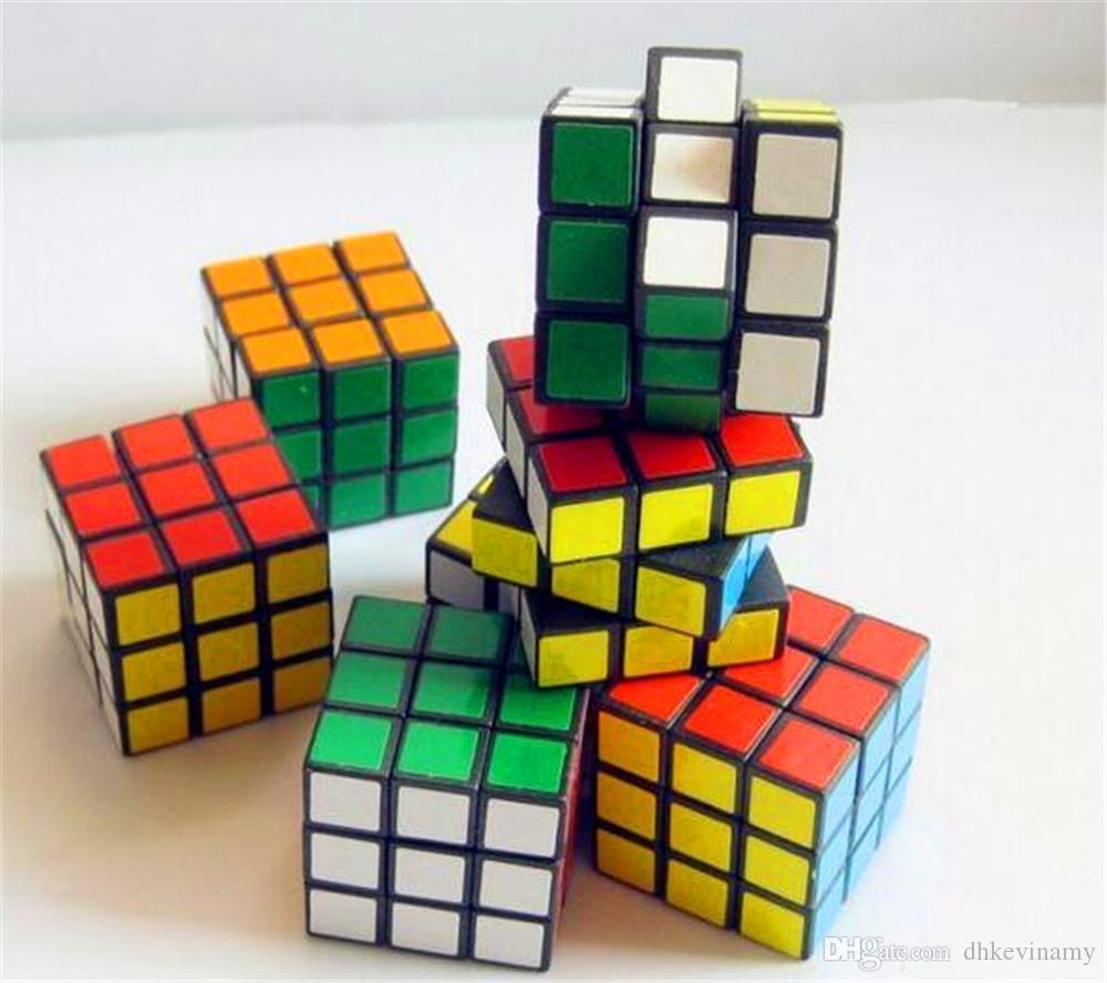 Livre Profunda Multi-cor Plásticos Magic Cube Intelligence Development Brinquedos Crianças Presente de Aniversário Educacional Venda Quente