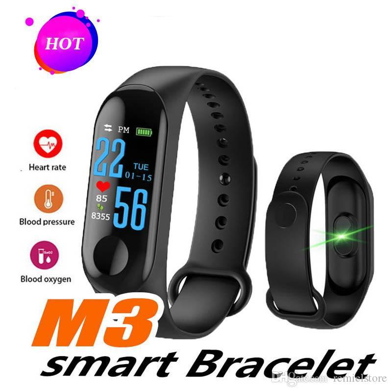 Pulsera Smart Band M3 Monitor de presión arterial Pulseras inteligentes a prueba de agua Smartband fitness Tracker watch PK mi band 3 4