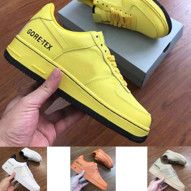 2020 الخصم غور تكس 1 الحيوي الأصفر للرجال والنساء منخفضة قطع التزلج الأحذية الأحذية الجلدية تزلج حجم EUR36-45