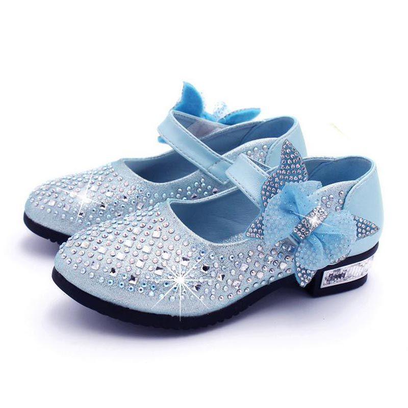 جديد الأميرة الأطفال الأميرة الصنادل أحذية أطفال بنات فستان الزفاف أحذية حزب بنات