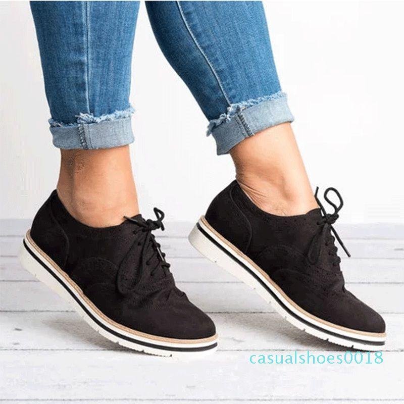 MCCKLE più le donne Hollow pedana piatta pattini di oxfords British Style da donna Creepers Brogue scarpe per la femmina in pizzo Calzature c18