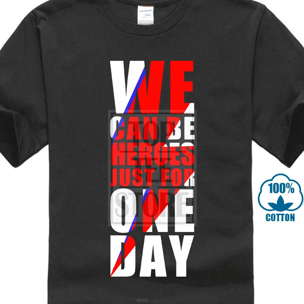 David Bowie T Shirt Uomo Manica corta Rock Bowie We Can Be Heroes Solo per un giorno T Shirt Cotone Uomo Top Tees