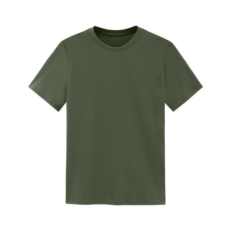 Verano verde camisetas hombre manga corta de los hombres algodón de la tapa camiseta Homme en blanco Casual camiseta básica camisa de gran tamaño camiseta para el muchacho XXL