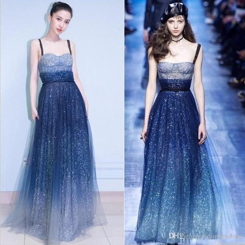 2020 pétillante spaghetti robe de bal le même paragraphe étoile jupe dames banquet noble élégante robe de soirée longue fête femme hôte