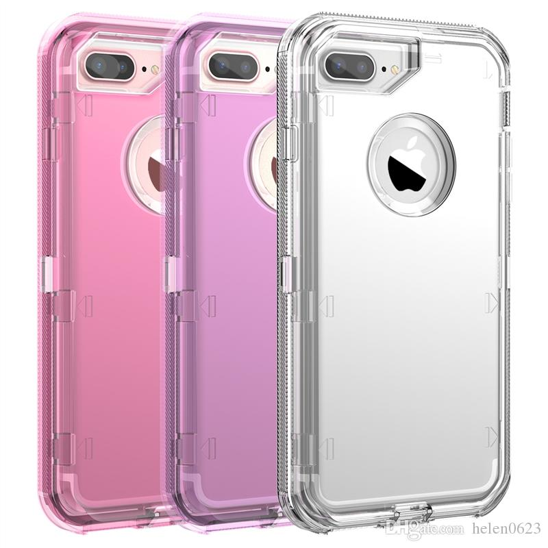 Hard Case For iPhone 7 8 6 6s Plus X Xs XR Max 360 Case Clear PC Bumper Cute Bling Cases For Samsung S10 S10Plus S9 S8 Note 9 Silicone Cover