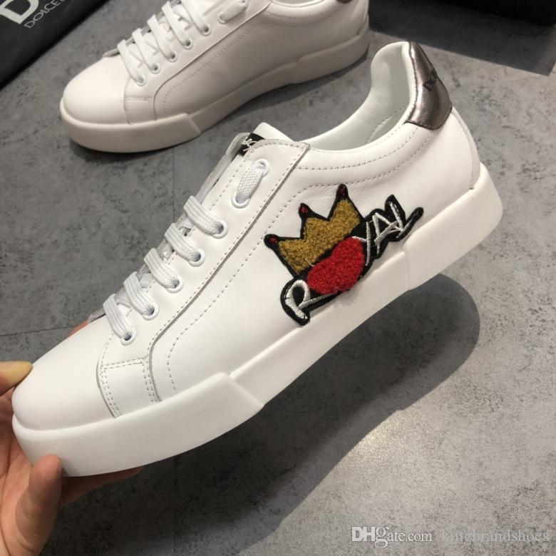 chaussures de luxe les plus récents 2019 hommes confortables chaussures de sport en plein air décontracté véritables hommes en cuir blanc chaussures
