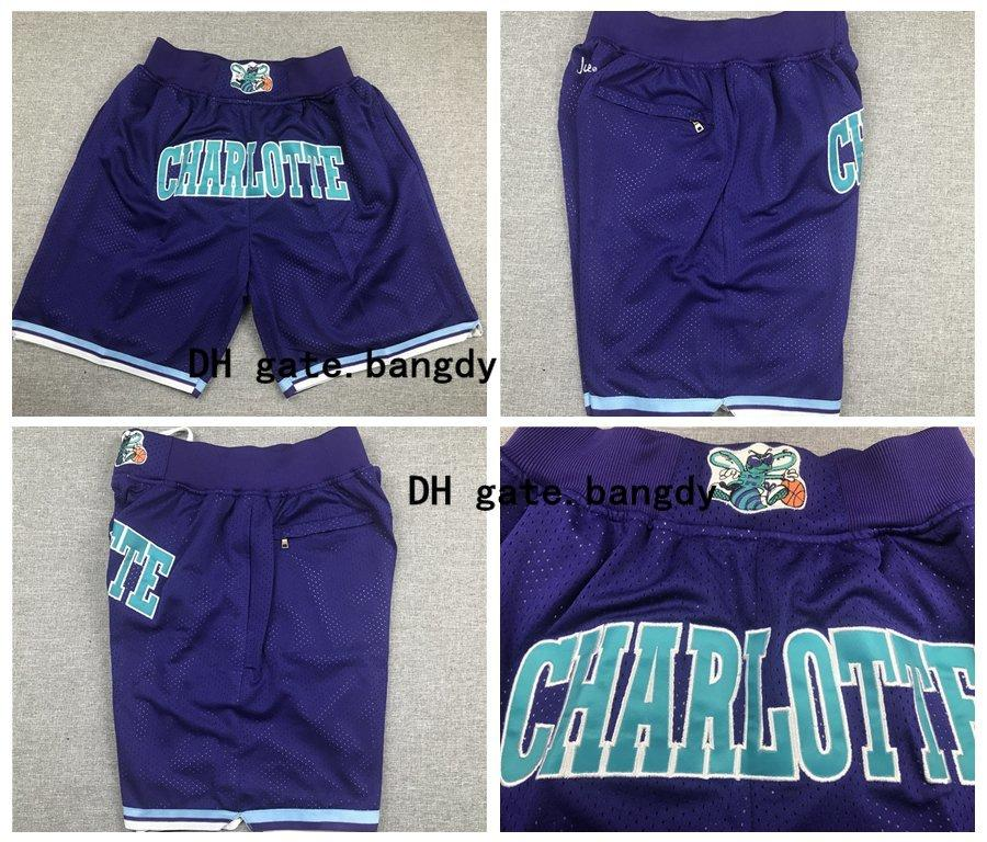 2020 Just Don Mens Charlotte 13 Hornets 13 Nba Muggsy Bogues Dell Curry Stitched Embroidery Professional Sport Basketball Shorts Fitness Pants From Bangdy 22 38 Dhgate Com