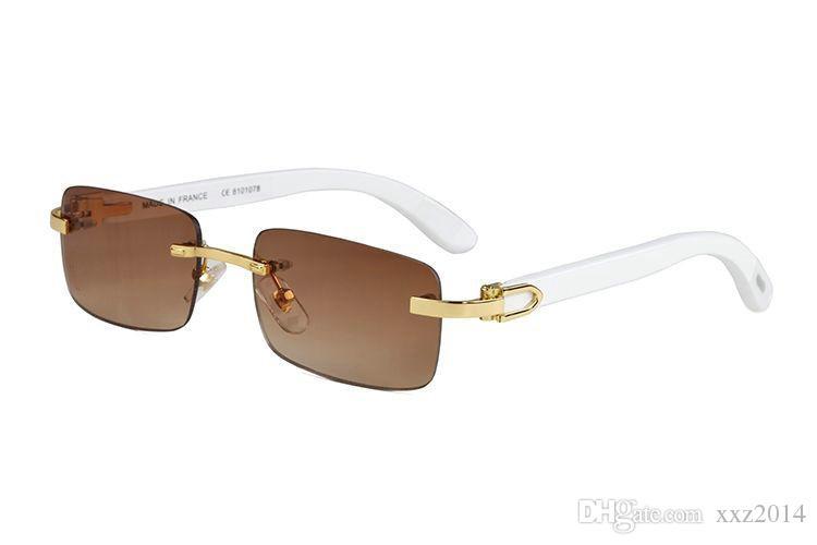 جديدة المعطي لون الأوروبية صباحا C86435 الساخنة للجنسين النظارات الشمسية الفاخرة UV400 التدرج اللون بدون شفة مستطيلة ذات جودة العلامة التجارية نظارات القضية كاملة مجموعة