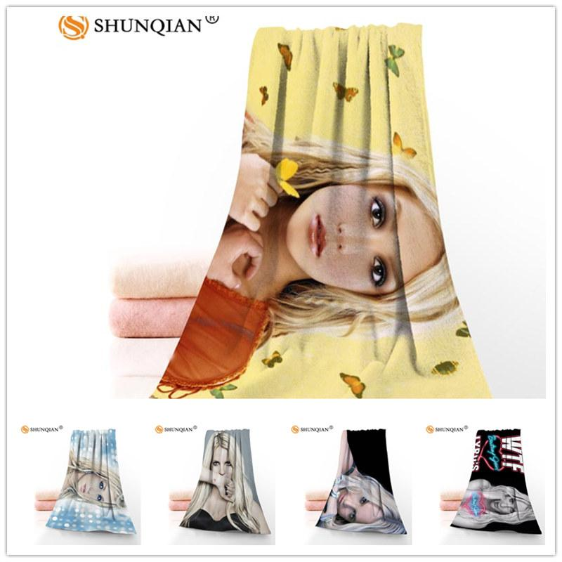 Custom Britney Jean 35x75cm Face Towels Facecloth Bamboo Fiber Washcloth Quick drying Sports Towel
