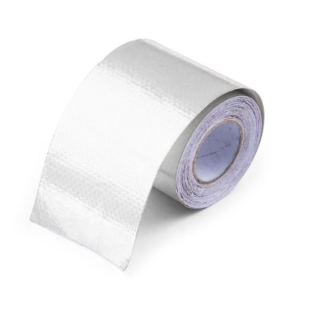 Exhaust Pipe Roll Heat Shield High Temperature Aluminum Foil Gold 5m Silver Reflective Self Adhesive Wrap Tape