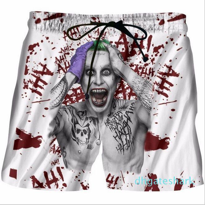 Compre New Joker Curto Calças Esquadrão Suicida Prints Joker 3d Shorts Mens Hipster Praia Shorts Mens Streetwear Board Shorts Ye08 De Dhgateshark 96 49 Pt Dhgate Com