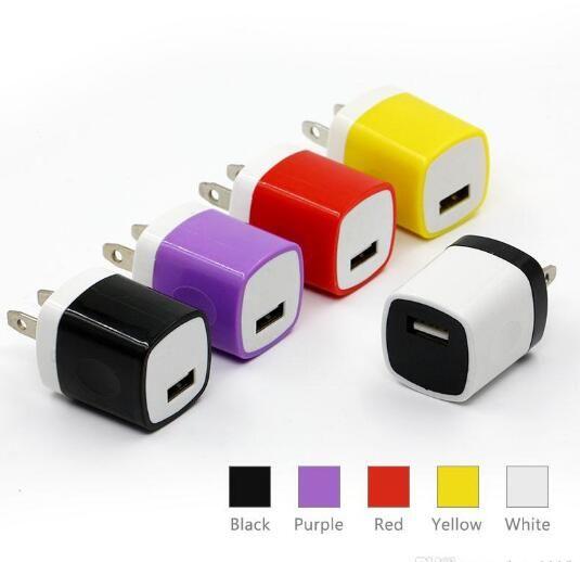 블록 USB 큐브 플러그 충전기 상자 아이폰 X / 6 / 7 / 8P 충전 재고 소켓 충전기 벽돌 자료 미국 어댑터 애플