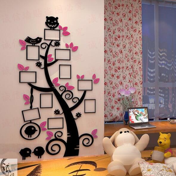 Kinder cartoon foto baum kreative 3d kristall stereo wandaufkleber wohnzimmer TV hintergrund wanddekoration wohnkultur
