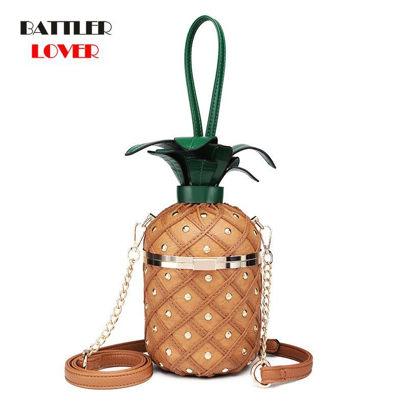 Ananas Forme Sacs pour femmes 2020 Sacs Femme Sac Bolsa Feminina épaule Messenger Sac à main de luxe Sac Designer