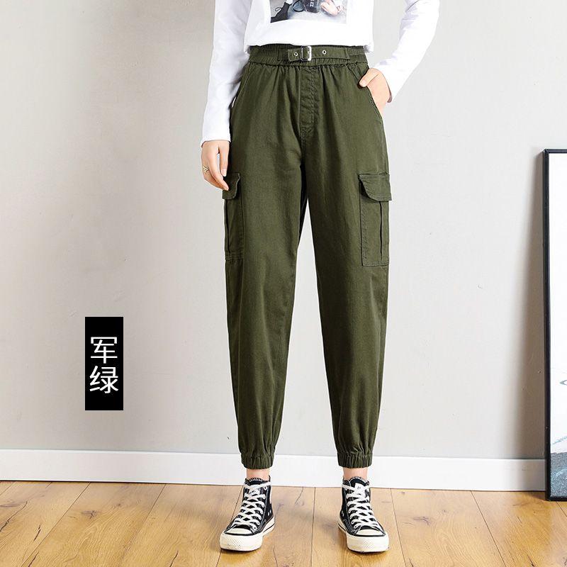 ocasional cintura elástica Harem calças meninas Primavera New bf hiphop soltas macacão sweatpants mulheres calças Harajuku mulheres corredores