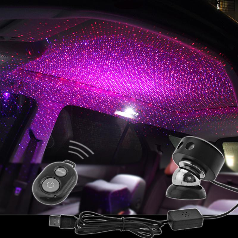 Car star lights modified auto armrest box usb atmosphere lights starry sky starry ceiling decorative light