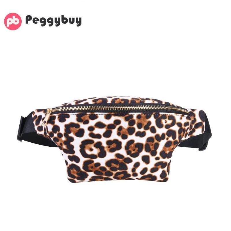 Leopard Sac à bandoulière poitrine grande capacité Femmes Zipper Sacs à bandoulière de sac de taille Ceinture Fanny Pack de Brown Street New Taille par jour
