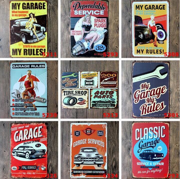 Benutzerdefinierte Metall Blechschilder Sinclair Motor Oil Texaco Plakat Hausbar Dekorwandkunst Bilder Jahrgang Garage Sign 20x30cm DHA288