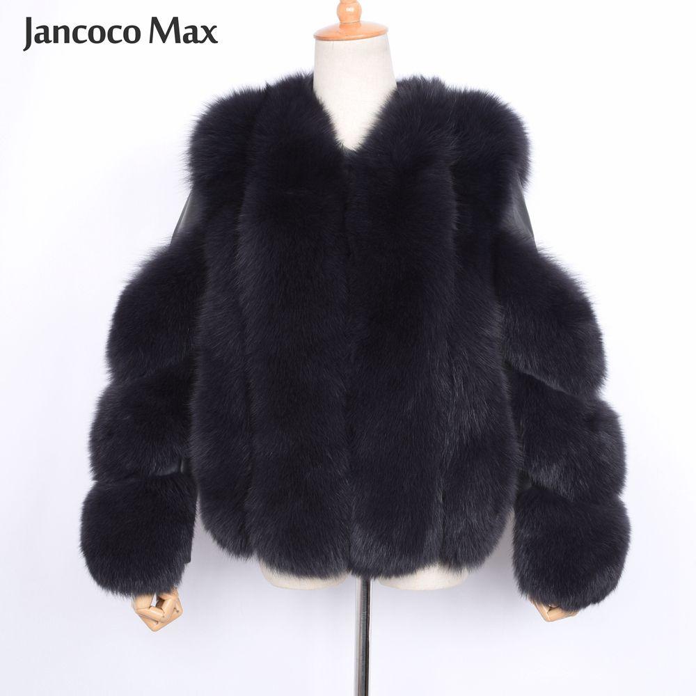 تصميم جديد ترف النساء معطف الفرو عالية الجودة أنثى الفراء الطبيعي جاكيتات شتاء دافئ خارجية S7503