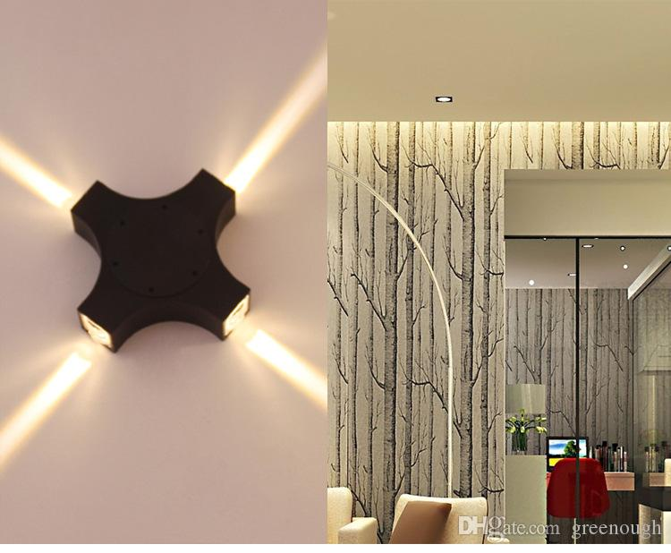 Applique da parete design LED 10pcsModern 4 * 3W impermeabilizzano superficie esterna montato Lampada da parete in alluminio su e giù illuminazione a LED