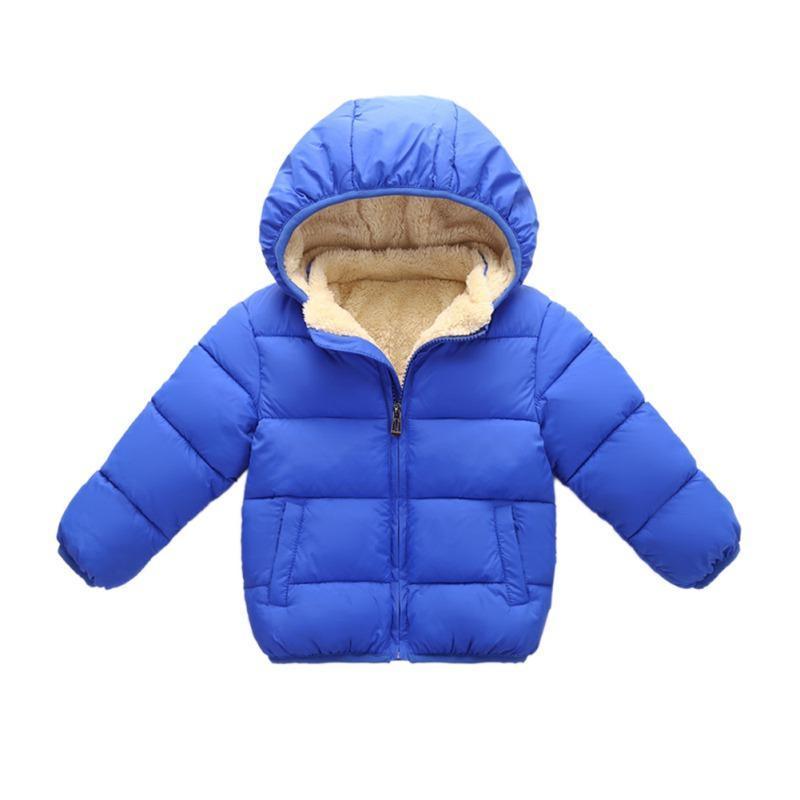 Enfants d'hiver chaud Veste enfants plus velours coton manteau enfant en bas âge Filles Garçons-vêtement solide Vêtements pour enfants