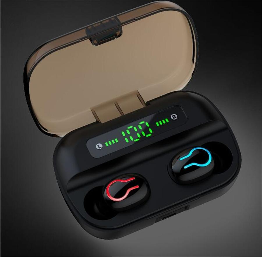 JR originale JOYROOM-T08 TWS écouteurs Bluetooth 5.0 écouteurs stéréo sans fil Sport 3D Sound In Ear intra-auriculaires avec micro et boîte de charge T08 # UO3