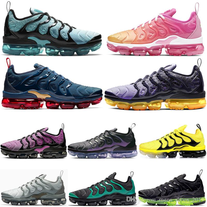 Compre Nike Air Vapormax Plus Shoes Top OG Plus Hombres Mujer Zapatos Para  Correr Psychic Pink Light Menta Black Volt Bumblebee Laser Orange ...