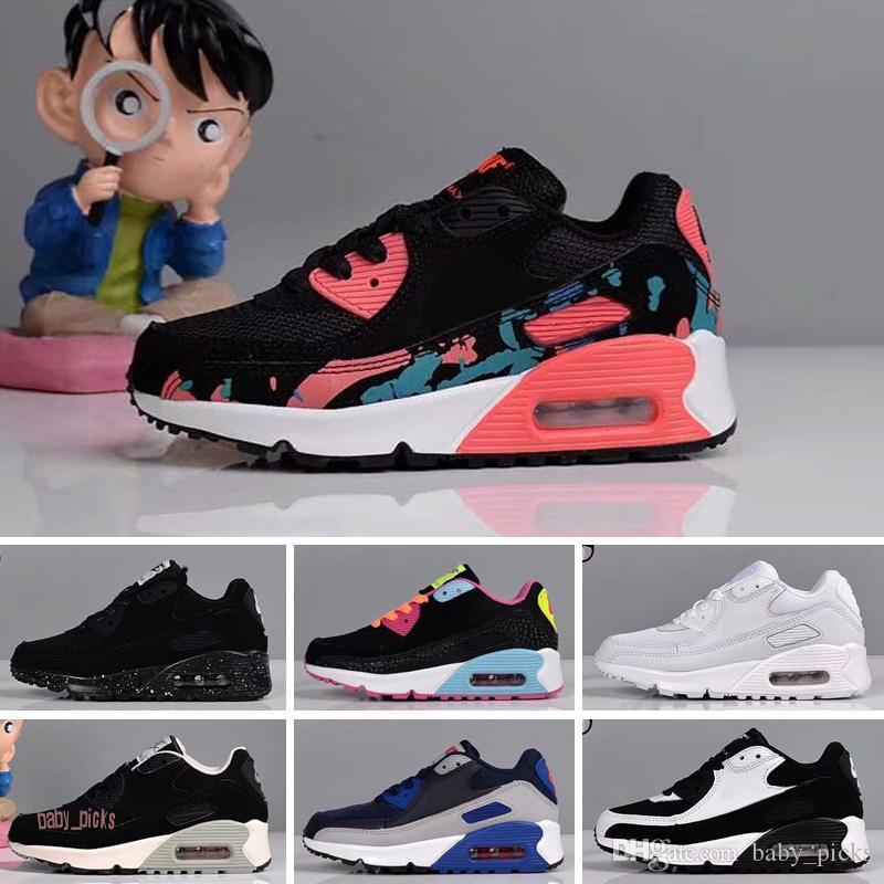 Nike air max 90 Pas cher New Kids Chaussures Presto Chaussures Enfants Sports Chaussures Pour Enfants Formateurs Enfant Filles Garçons Chaussures de course Taille 28-35